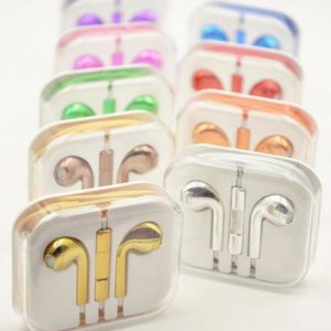 electroplated earphones oem EarPods chrome plated gold for iPhone ipod ipad mic and volume control remote