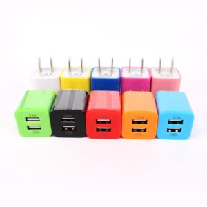 Wholesale dual 2 usb port wall charger travel home adapter plug